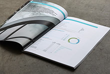 Annual Report layout of graphic content