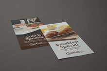 Example of popular restaurant advertising flyers printed in Sydney by Pictura Creative