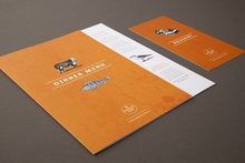 Dinner and dessert restaurant menus printed by Pictura Creative