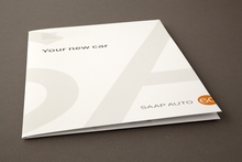 Presentation folder printed for a luxury car dealership printed by Pictura Creative, Camperdown