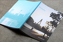 Example of a corporate annual report utilising digital printing for short print runs
