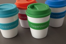 Example of promotional merchandise reusable travel coffee cups by Pictura Creative