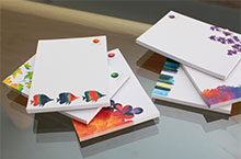 Promote brand awareness - Stock your retailers with note pads in a variety of designs