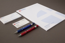 Example of stationery printing including business cards, notepad, writing pads and pens by Pictura Creative