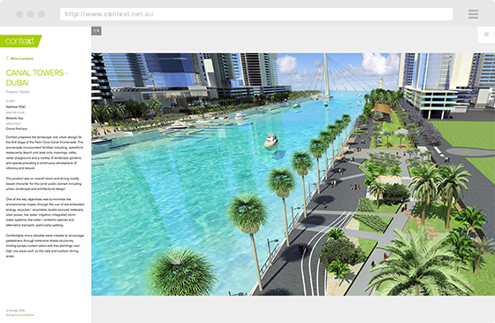 Example of Pictura Creative Web Design - Context Landscape Architects Website