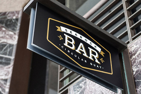 Example of Pictura Creative Logo Design - Searock Bar Brand & Logo Design